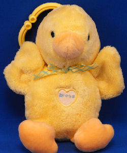 Carter's Baby No. 96154 Small Yellow Duck with Peach Beak & Feet
