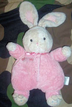 Carter's Small Sweet Baby White Rabbit Wearing Pink Sleeper