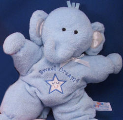 , DISCONTINUED – Kids Preferred SWEET DREAMS BLUE Star ELEPHANT