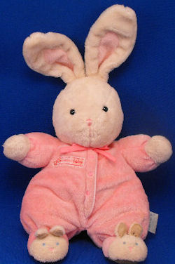 Carter's White Rabbit with Pink BABY GIRL Sleeper & Bunny Slippers