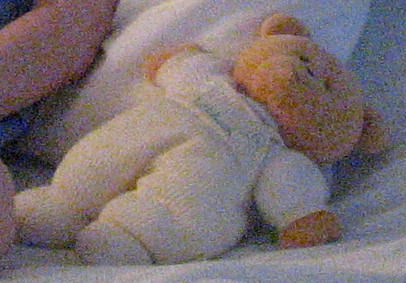 2003 Carter's Tan Bear with Yellow Thermal Overalls