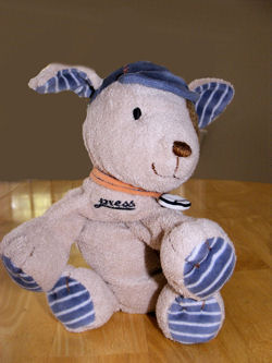 , FOUND – Carter's TAN DOG With BLUE BASEBALL CAP & Collar with a Baseball on it