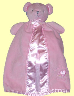 2005 Carter's Pink Thank Heaven for Little Girls Bear Security Blankie