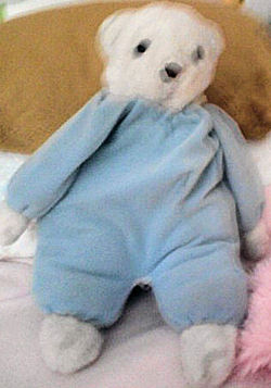 Carter's? White Bear Wearing Blue Sweater Knit? Sleeper