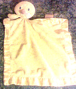 Carter's? Yellow Blankie with Duck Head and Arms Holding the Blankie