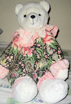 Circus Circus White Bear Wearing a Print Body with Pink & Lace Cuffs AND this Aurora People Pals Leopard