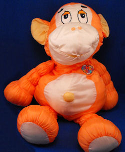 1986 Commonwealth Jumbo Love XL Orange & White Monkey