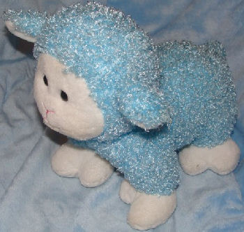 Commonwealth Standing Blue Lamb with Big White Face, Ears, & Feet