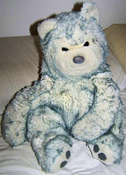 , DISCONTINUED – 90's Commonwealth GRAY TEDDY BEAR