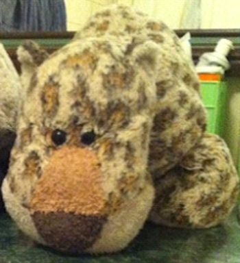 , Searching – Commonwealth Toy Lying Down Floppy Leopard