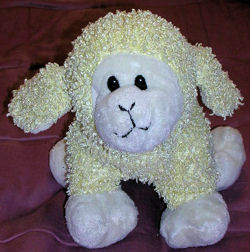 Commonwealth Cream Chenille Woolly Lamb