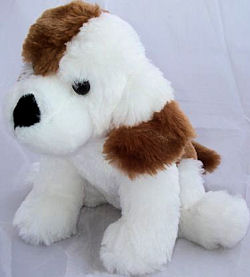 Best Made Toys Cuddle Zone White Furry Dog with Brown Splotches
