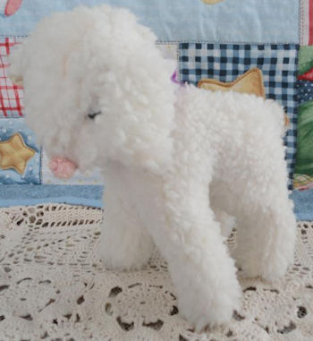 Custom Stuffed Vintage White Wooly Standing Lamb