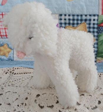 Custom Stuffed Vintage White Wooly Standing Lamb