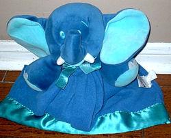 , Searching – 90'S DAKIN Dark Blue ELEPHANT BLANKIE Named JUNO