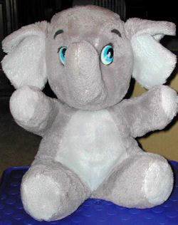 80's Dakin Gray Elephant with White Tummy & Feet