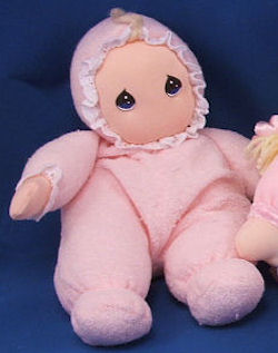 DAKIN 1995 Precious Moments Avon Blond Doll with Pink Sleeper
