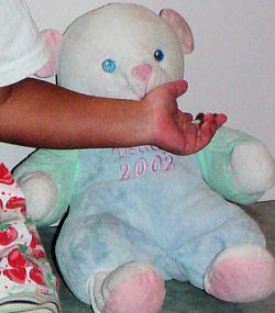 DanDee My First Teddy 2002 Blue Bear