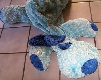 DanDee Large Floppy Blue Dog