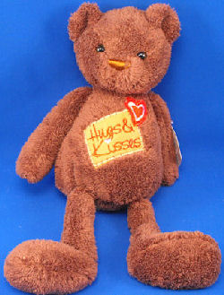 Cracker Barrel DanDee Chocolate Scented Brown Bear HUGS KISSES