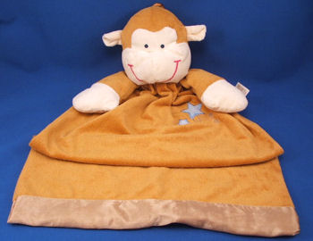 DanDee Collector's Choice Large Brown Monkey Gown Style Blankie