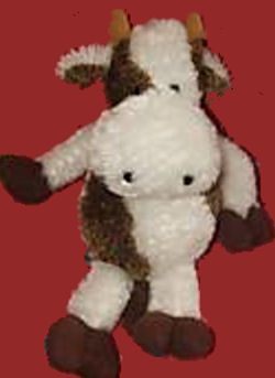 DanDee Brown and White Floppy Cow
