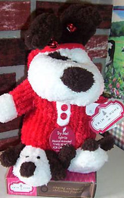 DanDee Collector's Choice Brown Singing Christmas Dog