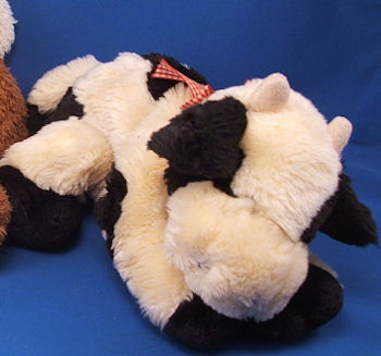 DanDee Collectors Choice Plush 14 inch Black & Cream Cow