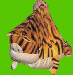 , DISCONTINUED – DanDee BIG Loosely Filled FAT ORANGE STRIPED CAT