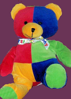 DanDee My First Teddy Red Blue Green Yellow Sections
