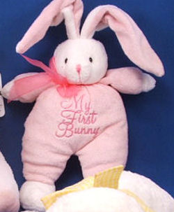 DanDee White My First Bunny Rabbit wearing Pink
