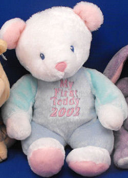 DanDee COLLECTOR'S CHOICE White Bear Blue Body MY FIRST TEDDY 2002
