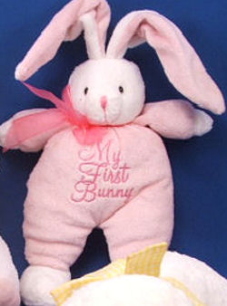 DanDee Collector's Choice White & Pink My First Bunny Rabbit