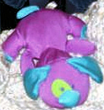 DanDee Microbead Purple Dog with Blue Ears, Nose, Tail & Yellow Eye Patch