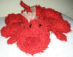 DanDee Red Chenille Dog