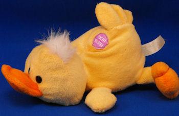 DanDee Small Yellow, Orange Lying Down Duck – Press Quacks