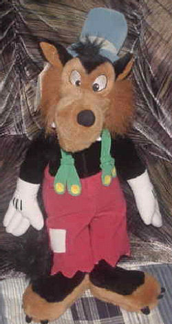 90's Disney Big Bad Wolf Wearing Green Suspenders