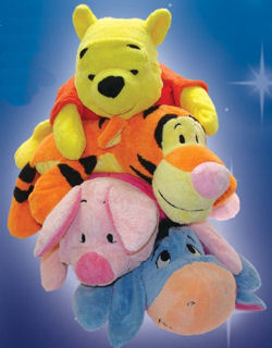 Disney Mushables Winnie the Pooh, Tigger, and Piglet Microbead Animals