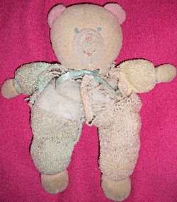 Eden Beige Velour Bear with Pink & Blue Halves Thermal Sleeper & Green & Yellow Arms