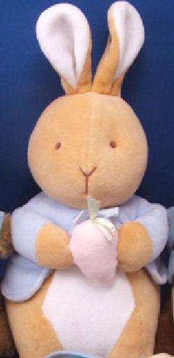 Eden Peter Rabbit Tan Upright Cream Ears, Tummy Pink Carrot