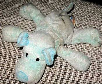 2003 Family Dollar Floppy Blue Lying Down 12 inch Dog