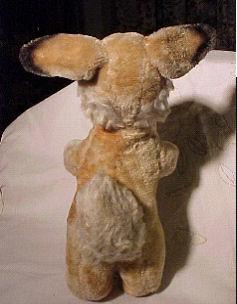 60's? GUND? Vintage Brown Rabbit Wearing a Jingle Bell