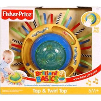 Fisher Price Brilliant Basics Tap and Twirl Top