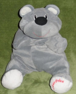 Fisher Price Gray Hugsey Rumple Bear