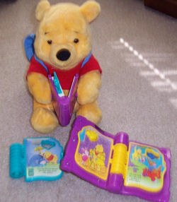 STORY BOOKS & CARTRIDGES for WINNIE The POOH TALKING READ with ME