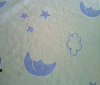 Fessenegger Blue & White Moon, Stars, Clouds Baby Blanket