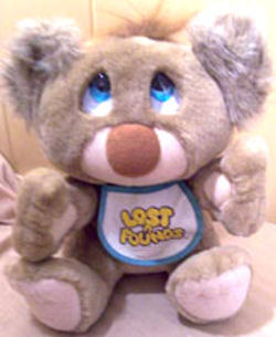 Galoob Lost n Found Koala Bear Wearing a Bib