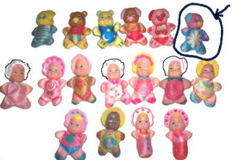 Galoob Small Babies Pink and Blue Pig