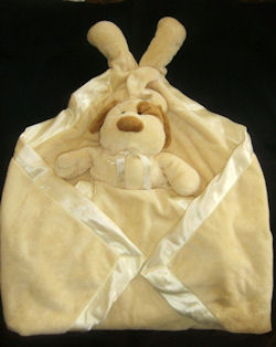 GANZ Cream Baby Bundle Security Blanket Lovey Puppy Dog