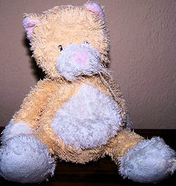 Yellowish Tan and White GANZ Heritage Collection Chenille Tubby Tummy Kitty/Cat